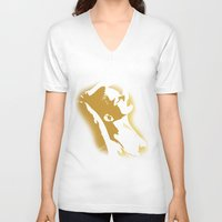 sexy V-neck T-shirts featuring sexy by Ezgi Kaya