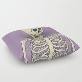 Skeleton Floor Pillow