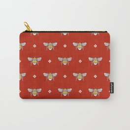 Bumblebee Stamp on Red Carry-All Pouch