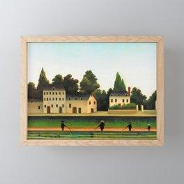 Henri Rousseau - Landscape and Four Fisherman - Digital Remastered Edition Framed Mini Art Print