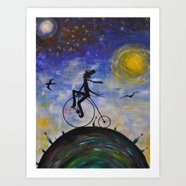 Evening Bike Ride Art Print
