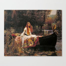 John William Waterhouse The Lady Of Shalott Canvas Print