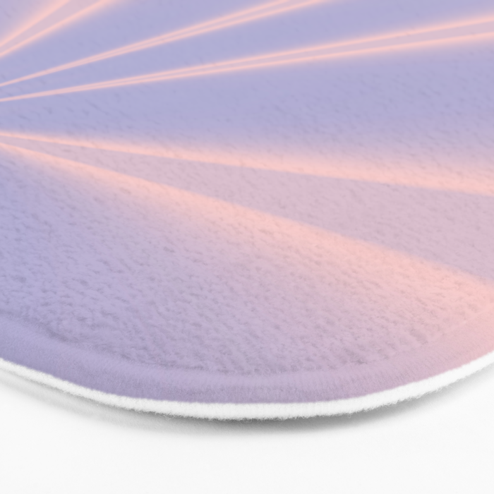 Fractal Pinch in Rose Quartz and Serenity Bath Mat