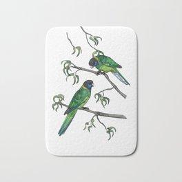 Ringneck Parrots Bath Mat