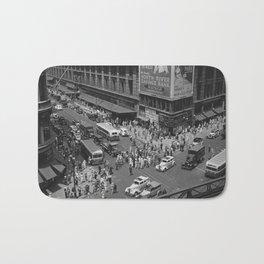 New York Vintage pictures (circa 1935) Bath Mat
