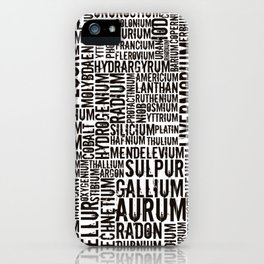 Chemical Elements iPhone Case