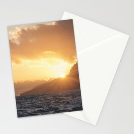 Sunset at Madeira island Stationery Cards