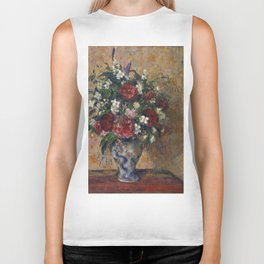 Camille Pissarro - Still life with peonies and mock orange Biker Tank