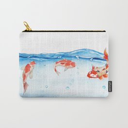 Happy koi fish- fishes sea water lake Carry-All Pouch