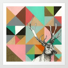 House of blocks Art Print