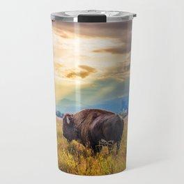 The Great American Bison Travel Mug