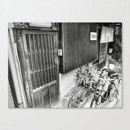 Horie store w/ bikes Canvas Print