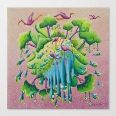 the flamingo world Canvas Print