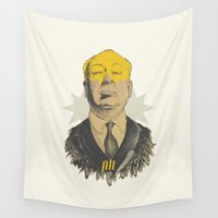 hitchcock Wall Tapestries featuring AH!  by Stefania Grippaldi - IDEAS FLY studio