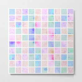 Watercolor Tiles #1 Metal Print