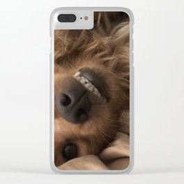 The smiling bear. Clear iPhone Case