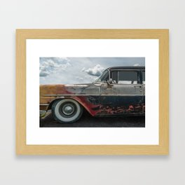 Flaming Oldsmobile Framed Art Print