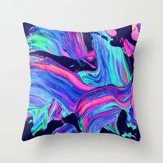 Neon abstract #charm Throw Pillow