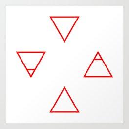 Elements (red) Art Print