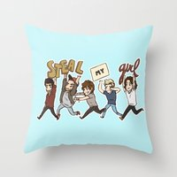 kendrawcandraw Throw Pillows featuring Everybody Wanna by kendrawcandraw