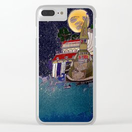 Full Moon Castle Clear iPhone Case