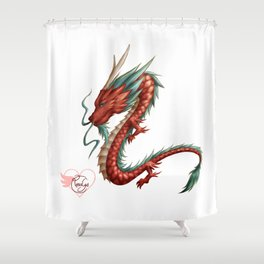 Dragon pure Shower Curtain