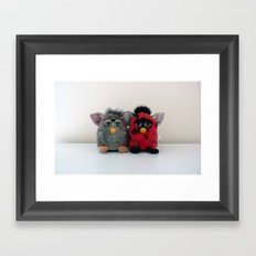 One Furby or two? Framed Art Print