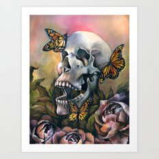 Laughing Skull Art Print