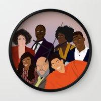 fresh prince Wall Clocks featuring The Fresh Prince by Jara Montez