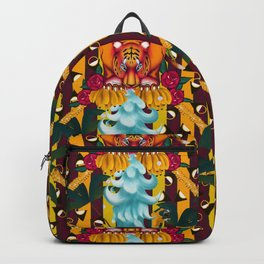 Maximalist tiger dream Backpack