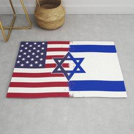 Israel USA flag Rug