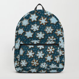 Frosted Gingerbread on Winter Night Sky Backpack