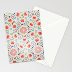 RED ARABESQUE Stationery Cards