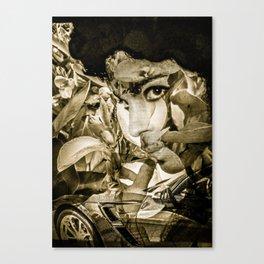 "Vette Series 2: Wild Thing, Blk & Wht"" Canvas Print"