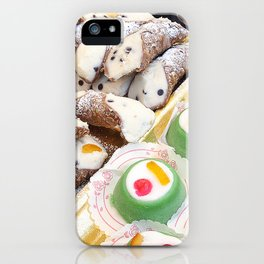 Sicilian cannoli and cassata iPhone Case