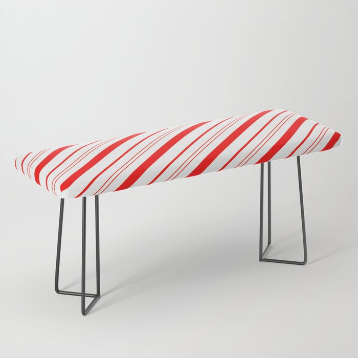 Candy Cane Stripes Bench