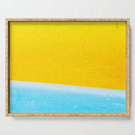 Sea & Sand Watercolor painting Abstract Serving Tray