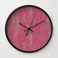 metropolis Wall Clocks featuring Metropolis by Kimsa