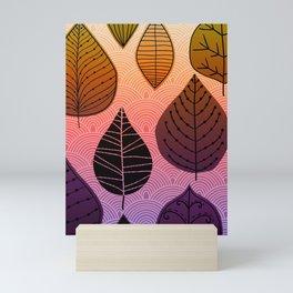 Bright Leaf Design Mini Art Print