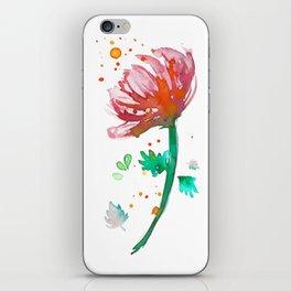 Warm Watercolour Fiordland Flower iPhone Skin