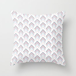 Spring Magnolia Arrows Blue Throw Pillow