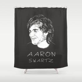 Aaron Swartz Tribute Artwork Shower Curtain