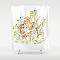nemo Shower Curtains featuring It isn't Nemo by Imanol Buisan
