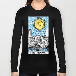 Floral Tarot Print - The Moon Long Sleeve T-shirt