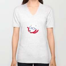 Hipster Polar Bear Unisex V-Neck