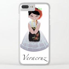 Traje tipico Veracruz Clear iPhone Case