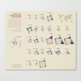 Urban story (Visual Data 16) Canvas Print
