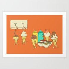 Ice Cream Hair Fun Art Print