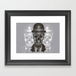 Worked To Death (Grey version) Framed Art Print