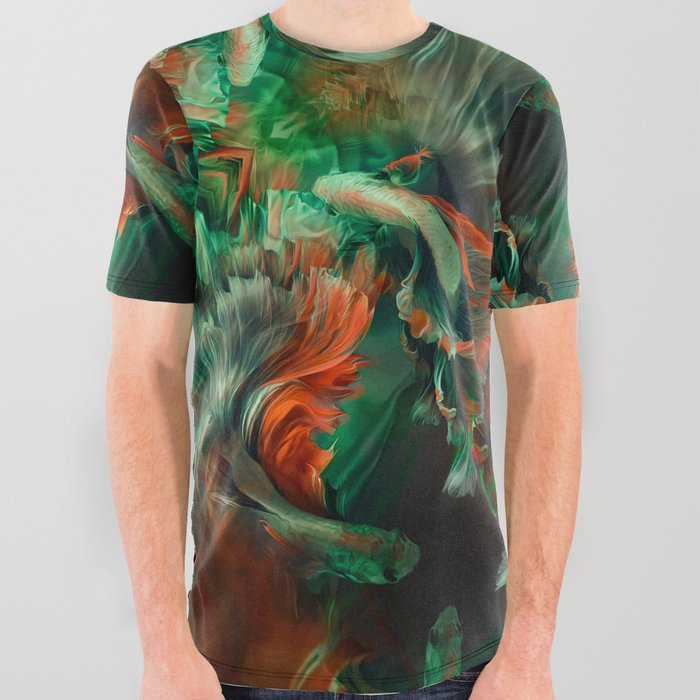 Betta_splendens_Deep_water_Siam_fighter_All_Over_Graphic_Tee_by_Mar_CantA3n__Small